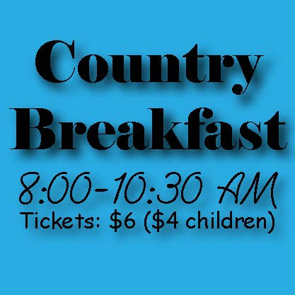 Old Fashioned Country Breakfast Saturday, Nov. 10, 2018