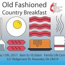 Old Fashioned Country Breakfast May 13th, 2017