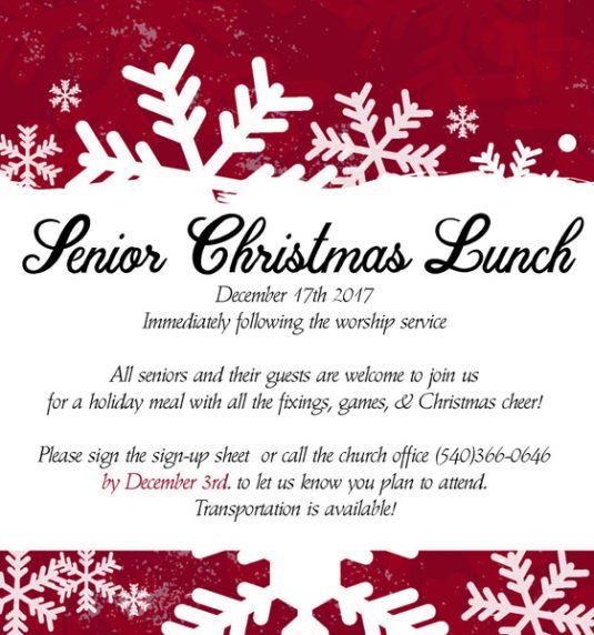 Senior Christmas Lunch